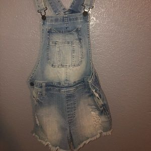 Charlotte Russe Denim Overalls only worn twice